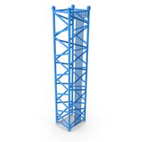 Crane D Intermediate Section 12m Blue PNG & PSD Images