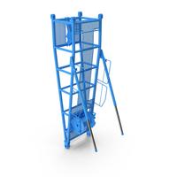 Crane D Pivot Section 9.5m Blue PNG & PSD Images