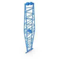 Crane Jib Mast Blue PNG & PSD Images