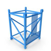 Crane L Intermediate Section 3m Blue PNG & PSD Images