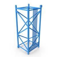 Crane L Intermediate Section 6m Blue PNG & PSD Images