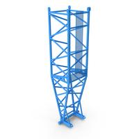 Crane L Pivot Section 10m Blue PNG & PSD Images