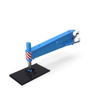 Crane Outrigger Large 03 Blue PNG & PSD Images