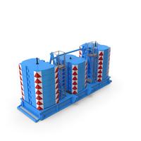 Crane Super Lift Counterweight Blue PNG & PSD Images