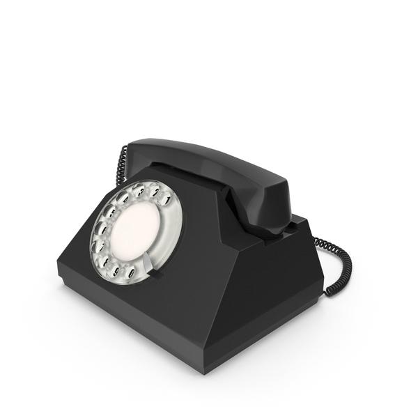 Spinner Black Vintage Phone PNG & PSD Images