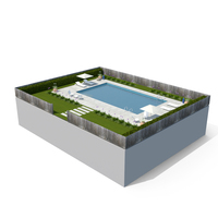 Swimming Pool & Garden PNG & PSD Images