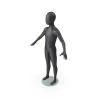 Child Mannequin Dark PNG & PSD Images