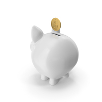 Piggy Bank with Coin PNG & PSD Images