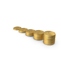 Growing Stacks of Coins PNG & PSD Images