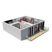 1 Bed Apartment Cross Section PNG & PSD Images