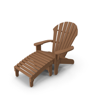 Atlantic Adirondack Chair and Footrest PNG & PSD Images