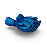 Two Gloves Silk Handful Pose PNG & PSD Images