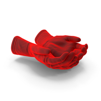Two Gloves Velvet Handful Pose PNG & PSD Images