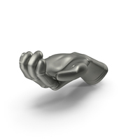 Glove Metallic Handfull Hold Pose PNG & PSD Images
