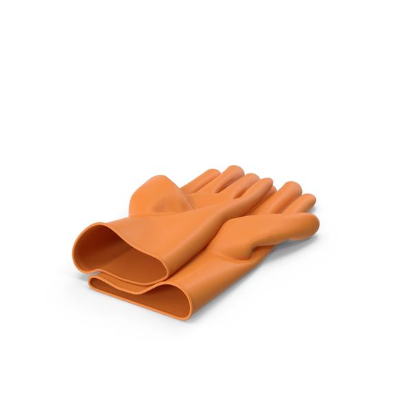 Orange Household Gloves PNG & PSD Images