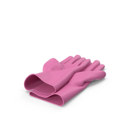 Pink Household Gloves PNG & PSD Images