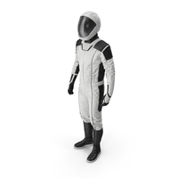 Futuristic Astronaut Space Suit Standing Pose PNG & PSD Images