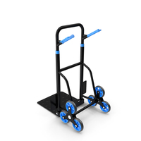 Hand Truck Trolley Cart Blue PNG & PSD Images