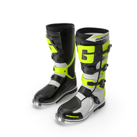Gaerne SG10 Boots Black White Yellow PNG & PSD Images
