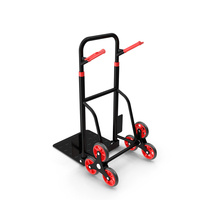 Hand Truck Trolley Cart Red PNG & PSD Images