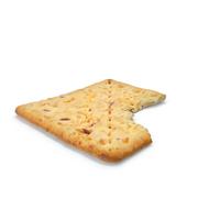 Square Bio Cracker Bitten PNG & PSD Images