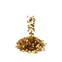 Pile of Gold coins LB Funt PNG & PSD Images