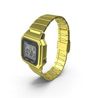 Golden Electronic Watch Generic PNG & PSD Images
