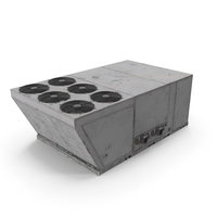 Industrial Rooftop Air Conditioning System Rusted PNG & PSD Images