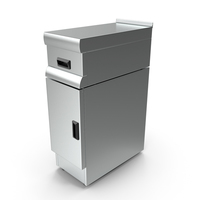 Inox Worktop with Drawers PNG & PSD Images