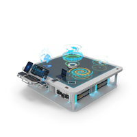 Interactive Holographic Table PNG & PSD Images