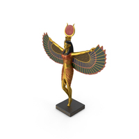 Isis Ancient Egyptian Goddess Statue PNG & PSD Images