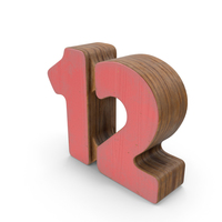 12 Wooden with Paint PNG & PSD Images
