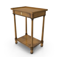 Hickory White Small Table PNG & PSD Images