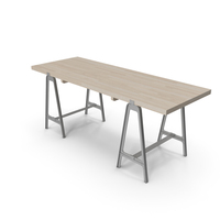 Sawhorse Dining Table PNG & PSD Images