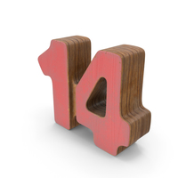 14 Wooden with Paint PNG & PSD Images