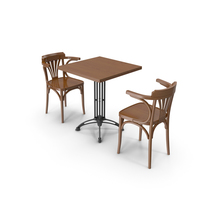 Table And Chair For Cafe PNG & PSD Images