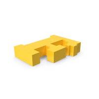 Stylised Cartoon Voxel Pixel Art Letter F on Ground PNG & PSD Images
