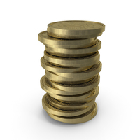 Gold Coins Clean PNG & PSD Images
