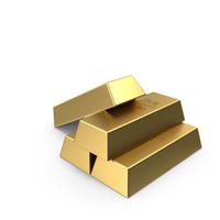 4 Gold Bars PNG & PSD Images
