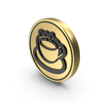 Hot Break Coffee Coin Logo Icon PNG & PSD Images