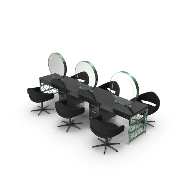 Hair Table Green Gold PNG & PSD Images