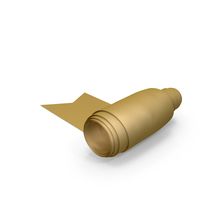 Gold Curling Silk Ribbon PNG & PSD Images