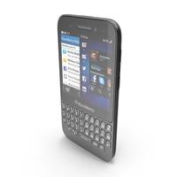 BlackBerry Q5 Black PNG & PSD Images