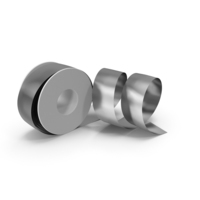 Silver Foil Ribbon Spool PNG & PSD Images