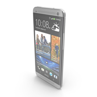 HTC One 2013 Silver PNG & PSD Images