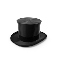 Luxury Black Top Hat PNG & PSD Images