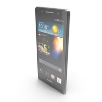 Huawei Ascend P6 Black PNG & PSD Images