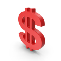 Dollar Sign Red PNG & PSD Images