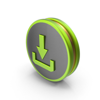 Green Download Icon PNG & PSD Images