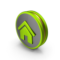 Green Home Icon PNG & PSD Images